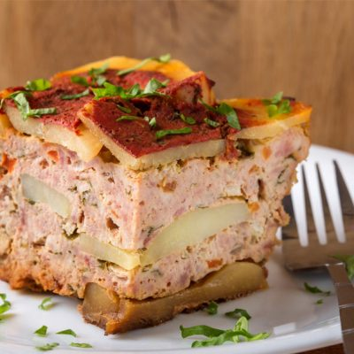 musaca cu carne de pui si porc